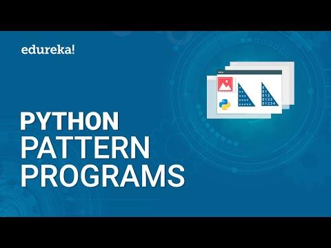 Python Pattern Programs | Printing Star Patterns in Python | Pattern Programs in Python | Edureka thumbnail