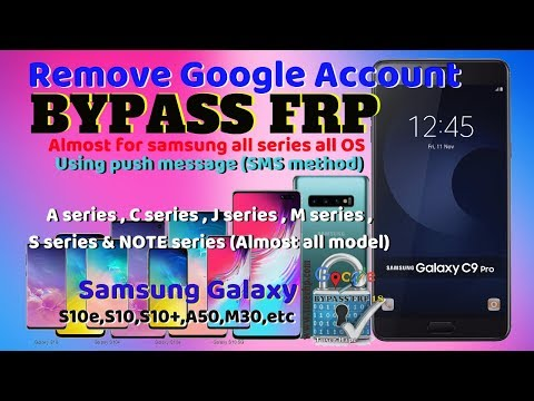 Bypass FRP Samsung C9 Pro S10+ M30 A50 Without PC (sms Method)