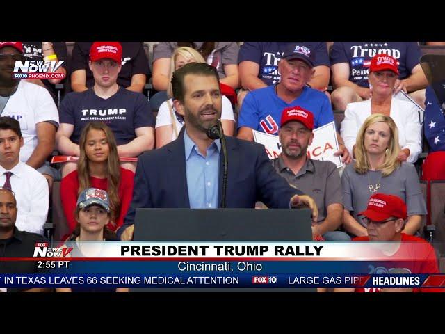 DONALD TRUMP JR: Presidents son RIPS on Joe Bidens son Hunter Biden