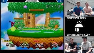 Soup/Piper Pipes vs KrisKringle/Sleazy (Smash 64 doubles RainCity 2)