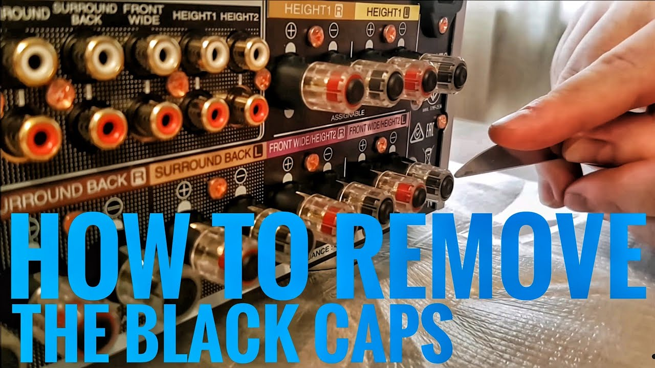 How to remove the black caps on your Denon or Marantz Receiver for Banana  Plugs 2016