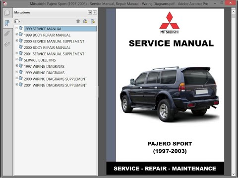 Mitsubishi Pajero Sport (1997-2003) - Service Manual / Repair Manual - Wiring  Diagrams - YouTubeYouTube