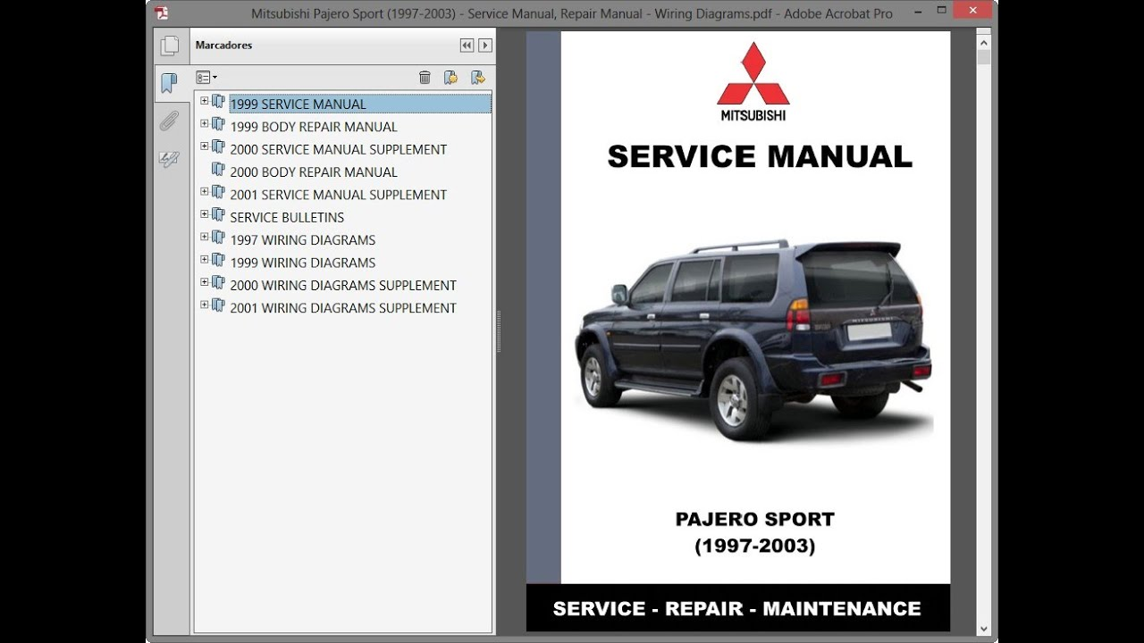 Mitsubishi Pajero Sport (1997-2003) - Service Manual / Repair Manual - Wiring  Diagrams - YouTube | 99 Montero Sport Wiring Diagram |  | YouTube