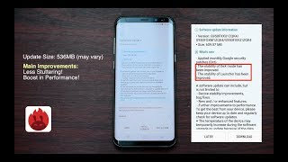 Samsung Galaxy S8+ Software Update October 2017