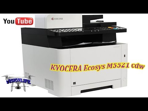 KYOCERA Ecosys M5521 cdw, распаковка, краткий обзор, качество пробной Печати