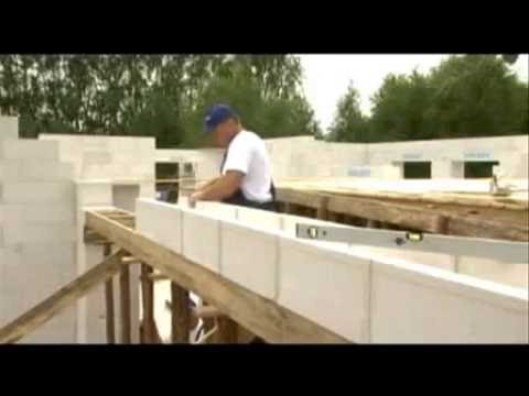 bauen mit porenbeton u schalen montage youtube. Black Bedroom Furniture Sets. Home Design Ideas