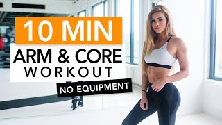 SEXY ARMS IN 10 MIN  / No Equipment | Pamela Reif