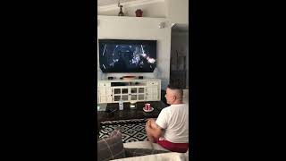 My husband reaction to Mandalorian Ep.8