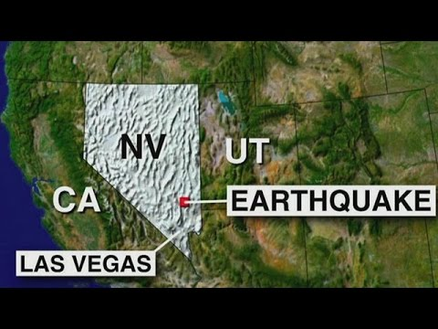 Earthquake : A 4.8 Magnitude Earthquake rattles Northeast of Las Vegas Nevada (May 22, 2015)