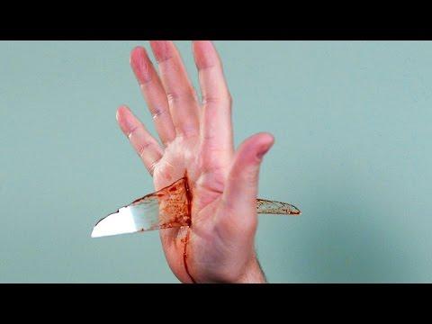 BROKEN GLASS IN HAND!