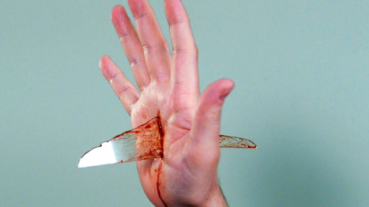 Broken Glass In Hand Youtube