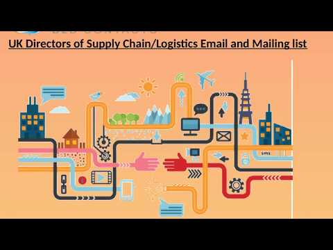 UK Directors of Supply Chain Logistics Email and M