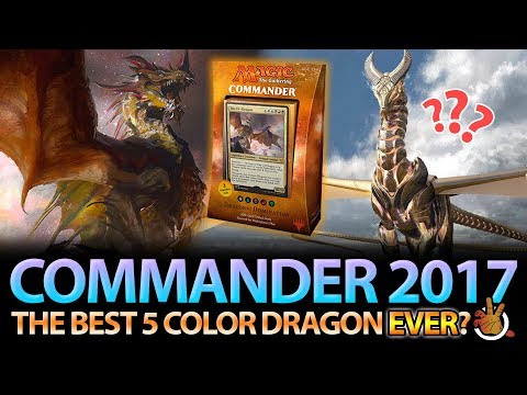 The Best 5 Color Dragon EVER? CMDR 2017 Dragon Deck Review | The Command Zone #174 | Magic Podcast
