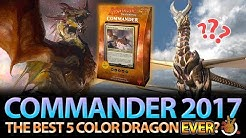 The Best 5 Color Dragon EVER? CMDR 2017 Dragon Deck Review   The Command Zone #174   Magic Podcast