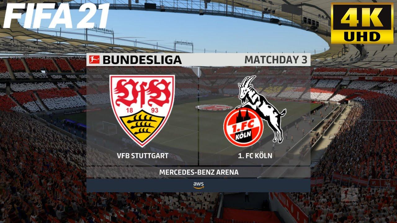 Fifa 21 Vfb Stuttgart Vs Fc Koln Bundesliga Full Match Gameplay 4k 60 Fps Youtube