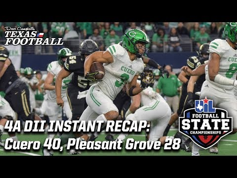 Cuero 40, Pleasant Grove 28: 4A DII Texas high school football championship recap
