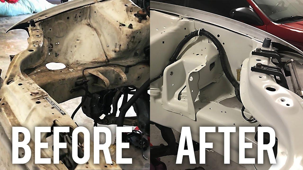 ENGINE BAY CLEAN & PAINT | Project Honda Civic EG - YouTube