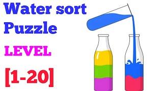 Sort Water Puzzle - Color Liquid Sorting game Level 1-20 solution or walkthrough screenshot 3