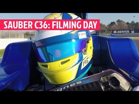 SAUBER C36: filming day en Barcelona | SOYMOTOR.COM