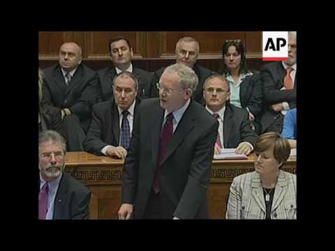 Belfast power-sharing crisis as McGuinness quits