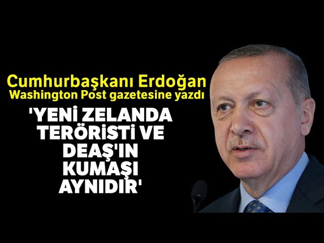 Cumhurbaşkanı Erdoğan, Washington Post'a Yazdı