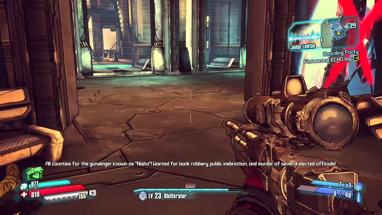 borderlands the pre sequel boarding party find the second echo log - YouTube