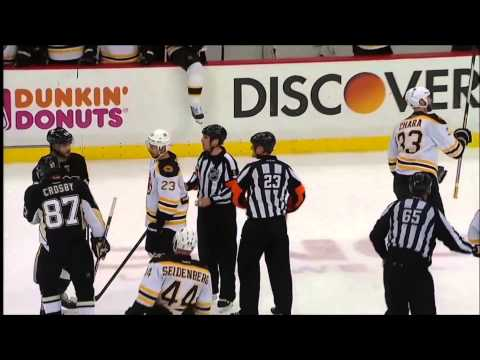 Malkin fights Bergeron, Crosby confronts Chara
