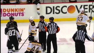 Malkin fights Bergeron, Crosby gets into heated discussion with Chara