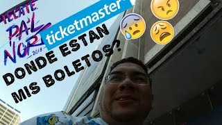PAL NORTE Odisea busqueda de boletos Will call Ticketmaster.
