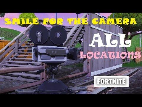 Fortnite Film Cameras - ALL LOCATIONS (Season 4 Challenge: Dance In Front Of Film Cameras)