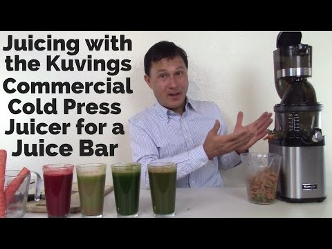 Juicing with the Kuvings Commercial CS600 Cold Press Juicer for a Juice Bar