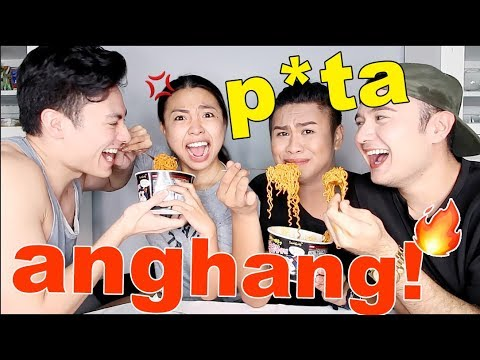 SPICY KOREAN Noodle Challenge!!! (with MAMSHIES and VINCE)