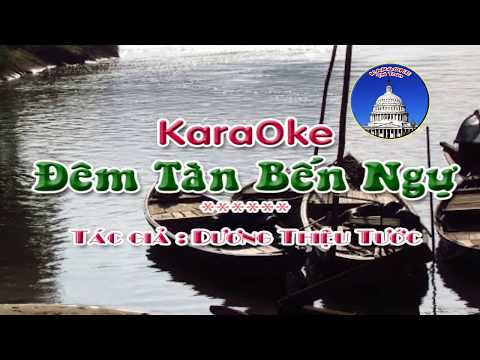 Karaoke ĐÊM TÀN BẾN NGỰ -Full HD- Nhạc: Dương Thiệu Tước