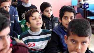 أعمال صيانة وإعادة تأهيل بمدرسة مصعب بن عمير بعد تعرضها لحريق - (9/12/2019)