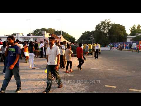 Audience coming to support Team India amidst tight security, 2010 Delhi XIX Commonwealth Games