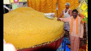 RECORD BREAK RECIPE: OH MY GOD!! 500 KGS LADDU | 500 Kgs Single Piece Ancient Indian Dessert Recipe