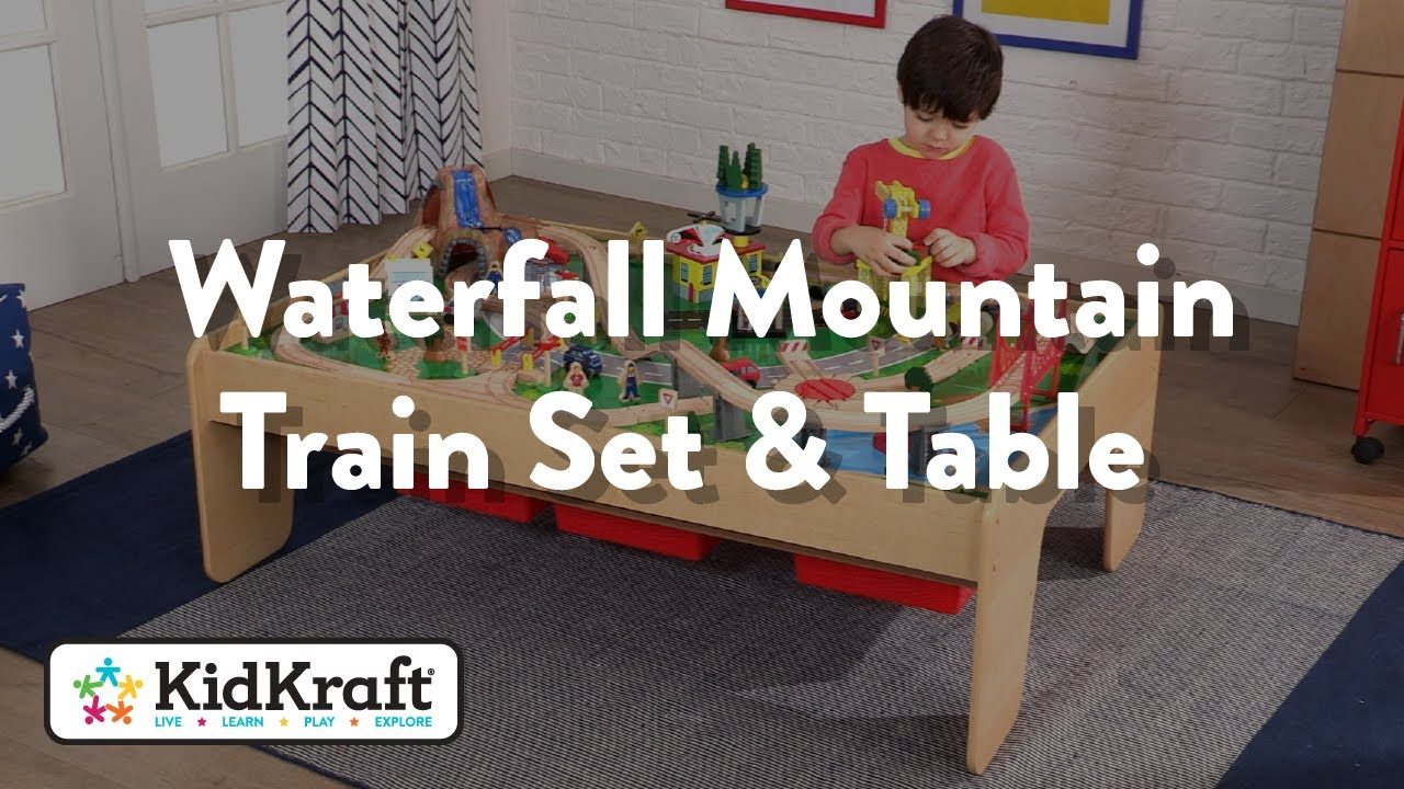 Waterfall Mountain Train Set & Table Toy Demo by KidKraft
