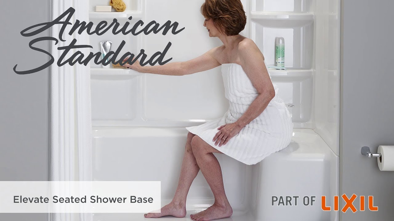 Genial Elevate Seated Shower Base And Shower Walls By American Standard