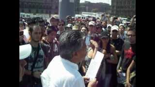Marcha Anti-Peña Nieto (ex-empleado de mexicana de aviación) DF