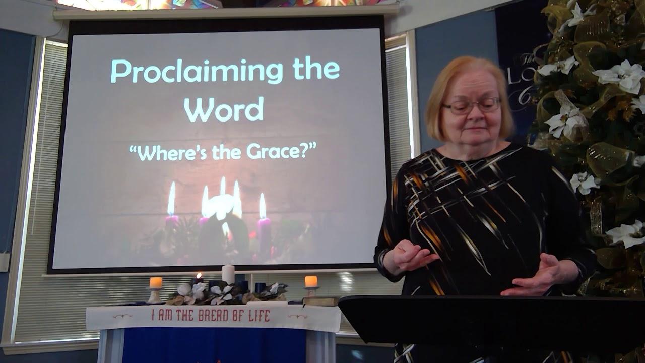"""November 29, 2020 ~ Rev. Julia Price ~ """"Where's the Grace?"""""""