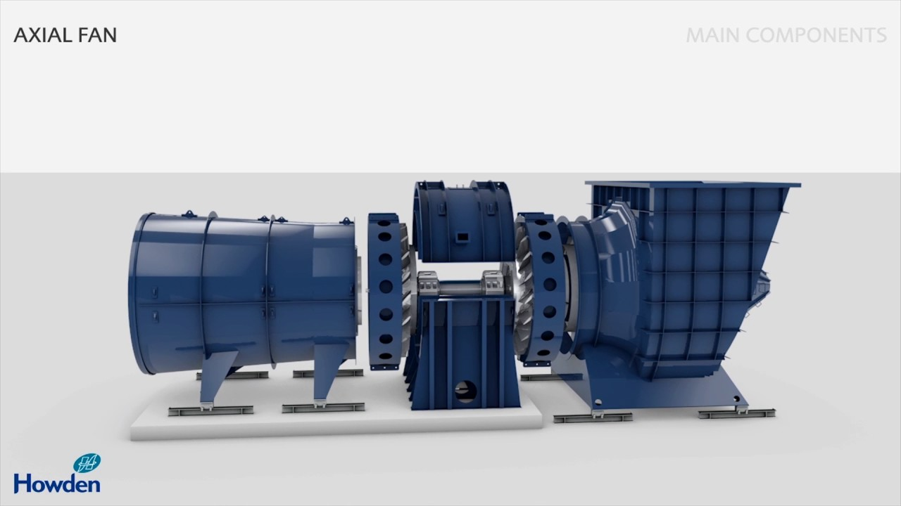 axial fan animation