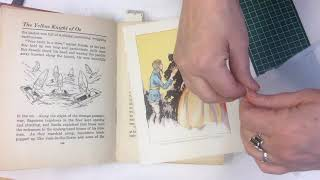 Reattach an Illustrated Plate in a Book with a Hinge: Save Your Books