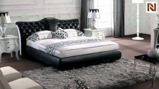 Modern Black Tufted Leatherette Bed Vgsbn-5820 From Vig Furniture
