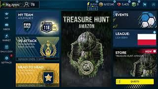 LIVE!!! ROAD TO RONALDINHO 100 OVR OTWIERAM PACZKI TREASURE AMAZON FIFA MOBILE 19