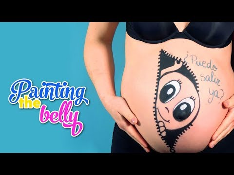 Painting the belly of my pregnant sister – Easy drawings for pregnancy