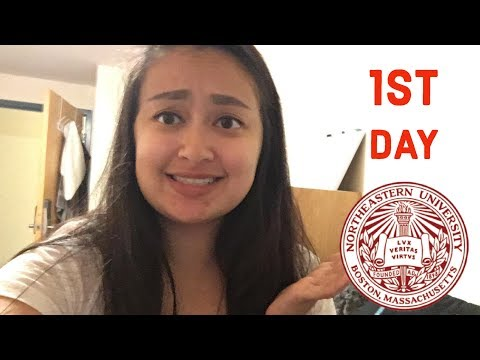 FIRST DAY OF COLLEGE VLOG // NORTHEASTERN UNIVERSITY