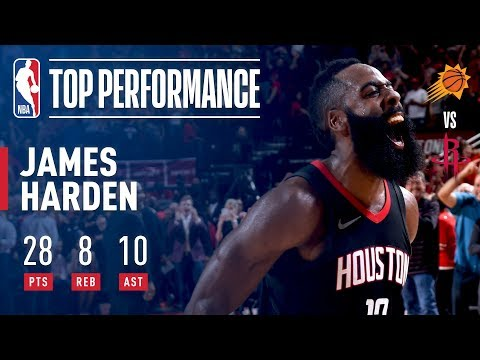 James Harden Fills It Up In The Win vs Suns!