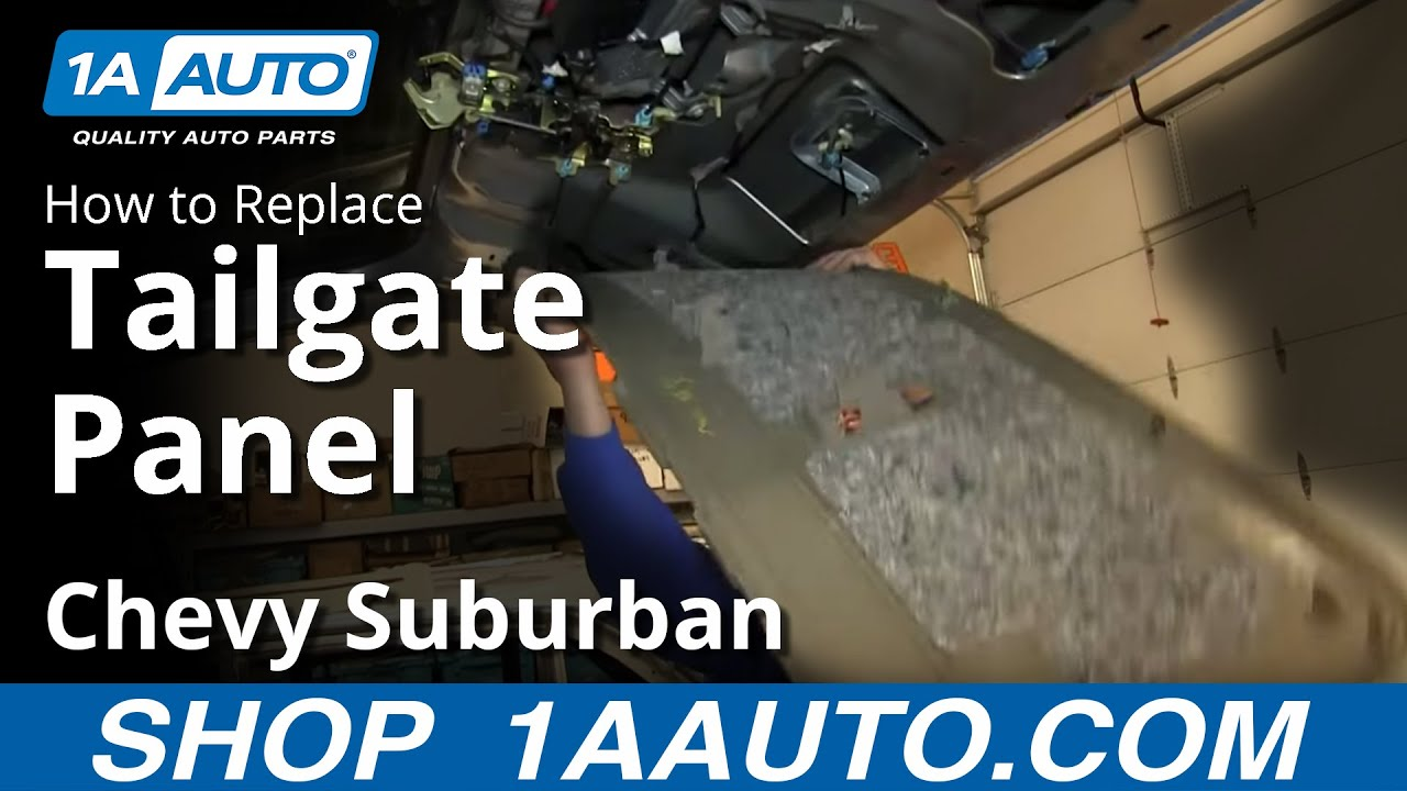 how to install remove interior tailgate panel 2000 06 chevy suburban and tahoe youtube. Black Bedroom Furniture Sets. Home Design Ideas