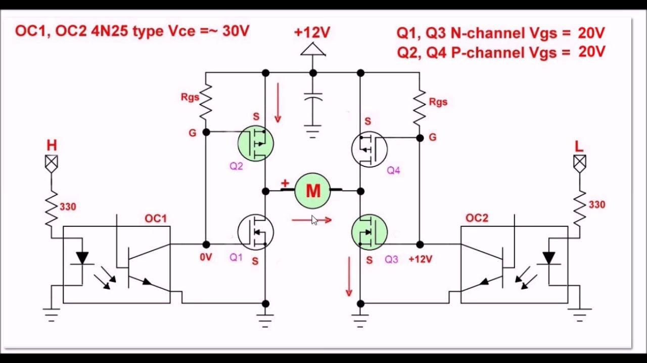 Power MOSFET H-Bridge Update - YouTube on pwm 24khz motor control schematic, bipolar h bridge schematic, igbt h bridge schematic, full bridge mos fet schematic,