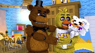 Minecraft FIVE NIGHTS AT FREDDY'S LIFE-CHICA'S AND FREDDY'S BABY IS BORN -GIRL OR A BOY?Baby Leah